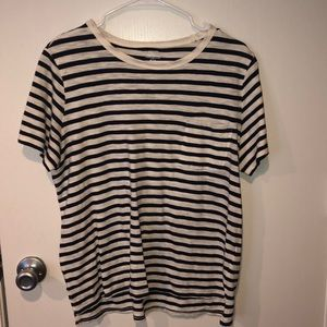 Old Navy Blue & White Striped Shirt